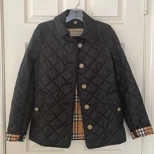 Black Burberry women's coat